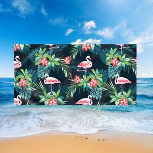 Tropical Flower Monstera Flamingo Macaw Parrot Sauna Surf Swim Beach Towel Gift