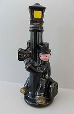 vtg Mid Century Enesco Japan Ceramic Drunk On Lamp Post Bar Decanter Cocktail