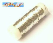 BIGIOTTERIA PERLINE - filo di rame mm 0,3 - col.argento