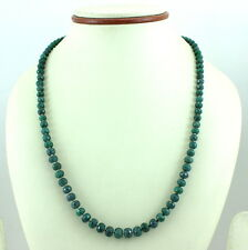 925 SOLID STERLING SILVER NATURAL FACETED EMERALD GEMSTONE NECKLACE 28 GRAMS