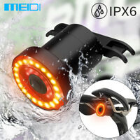 MEIDI XLite100 Waterproof Bicycle LED USB Tail Light Smart Brake Light Sense