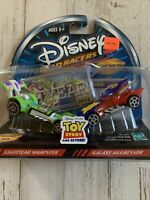 DISNEY WILD RACERS 2002 Lightyear Warpster & Galaxy Aggressor Toy Story Cars