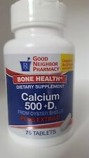 Gnp Calcium+d 500 Mg Tablet 75ct