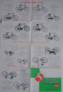 Chase Cycles 1938 Original 8 page folder well illustrated Bicycle Sales Brochure