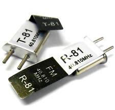 RC 40 MHZ 40.810 fm crystal tx & rx transmetteur & récepteur cristaux 40mhz CH 81