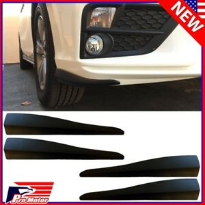 4 x Black Rear Front Bumper Corner Lip Side Guard Strap Scratch Protector P1