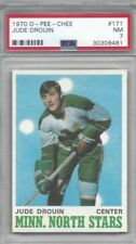 1970 OPC hockey card #171 Jude Drouin, Minnesota North Stars graded PSA 7