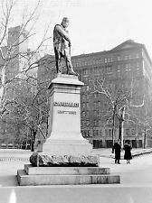 ART PRINT POSTER VINTAGE PHOTO New York Statua GARIBALDI nofl1495