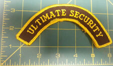New Sew On Patch - Ultimate Security Arched Embroidered patch - ships worldwide