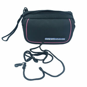 Official Nintendo GameBoy Advance GBA Carrying Case Travel Bag Black and Pink