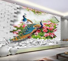 3D Peacock Lawn 972 Wallpaper Mural Paper Wall Print Wallpaper Murals UK Lemon