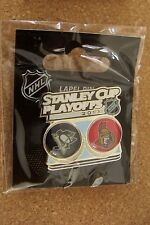 2013 Stanley Cup Playoffs Pittsburgh Penguins Ottawa Senators lapel pin SC