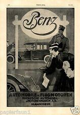 Benz Automobile Flugmotoren XXL Reklame 1918 Mannheim Rheinische Mercedes Fabrik