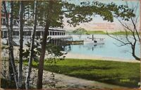 1910 Postcard: Willow Dale Steamboat Landing-Lowell, MA