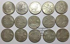 1946 to 1959 Australian Pre-Decimal Florins (2/-) 15 coins (168g) - 50% Silver