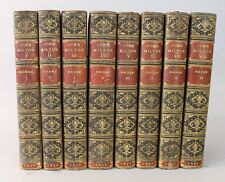 The Works of John Milton 1851 in 8 Volumes Leather Bound by Zaesdsorf