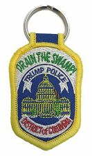 """Drain the Swamp! Trump Police District of Columbia Patch Key Chain - 2.75""""x1.75"""""""