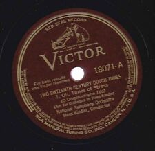 Hans Kindler, National Symphony on 78 rpm Victor 18071: Two 16th c Dutch tunes