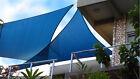 3.6 m Blue Solex Triangular Shade Sail Commercial Grade breathable UV treated