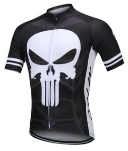 Short Sleeve THE PUNISHER Cycling Jersey Breathable Quick Dry Mountain sz XL