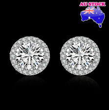 Wholesale 18K Platinum Filled Classic 9MM Zircon Diamond Cutting Stud Earrings