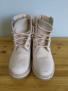 Women's Timberland Rose Leather Boots Pink Size 7