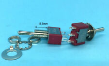 100PCS Φ6.2mm Momentary Mini Toggle Switches (ON)-OFF-(ON) 3 pin 3A 250V 5A 125V