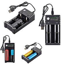 Batería de ion de Litio universal 18650 3.7V Cargador USB Baterías Recargables RC