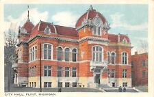FLINT, MI  Michigan                     CITY HALL               c1920's Postcard