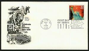 #3189f 33c U.S Celebrates 200th Birthday, Art Craft FDC **ANY 4=FREE SHIPPING**