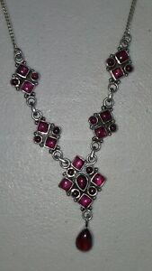 Sterling silver vintage necklace earrings set