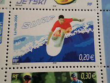 FRANCE 2004, timbre 3694, SPORTS de GLISSE, SURF, neuf**, MNH STAMP