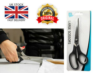 Large Black Soft Grip Scissors Kitchen Home Office Sissors 8.5 inches/ 21.5cm