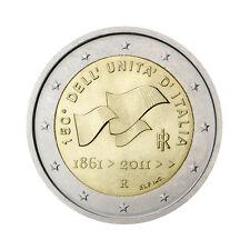 """ITALIA 2 EURO COMMEMORATIVE Coin 2011 - """"Unità d'Italia"""" - UNC"""