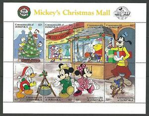 MICKEY MOUSE DISNEY CHRISTMAS STAMPS 1988 DOMINICA  - 3 UNMOUNTED MINT SHEETS