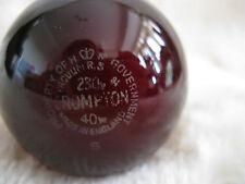 3 x 40W Crompton RUBY RED Submarine Light Bulb MOD B22 BC Brass Cap Lamp Job Lot