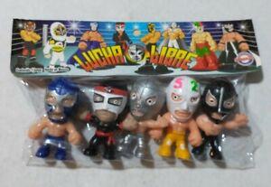"Wrestling 3"" set of 5 figures, Lucha Libre Luchadores Cabezones (1)"
