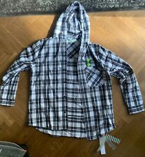 Off-White FLANNEL WHITE CHECK SHIRT Size Large