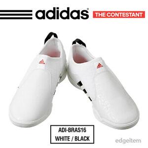 Adidas The Contestant Taekwondo Shoes White / Black ADI-BRAS16 ADITBR01 TKD WT