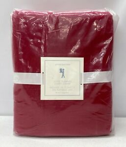 NEW Pottery Barn KIDS Solid Flannel TWIN Duvet Cover~RED