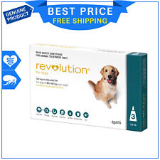 REVOLUTION Teal for Dogs 20.1 to 40 Kg 3 Pipettes flea and heartworm treatment