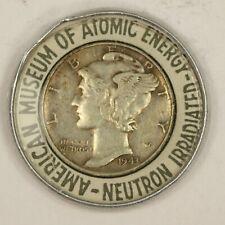1943 Irradiated Encased Mercury Dime. Raw2826/Jl