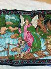 "Vintage HA-VA-TI Angel Watching over Children Wall Hanging 48"" X 33"" Mural"