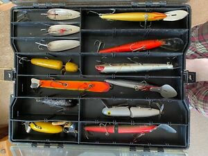 Vintage Plano Phantom III Tackle Box  - Filled with Muskie Lures - Take a Look