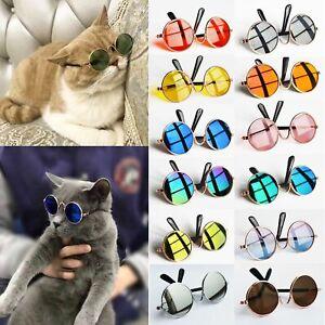 Vintage Round Reflection Dog Pet Glasses Sunglasses Eye-wear Cat Glasses