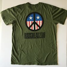 Radiohead 2018 t shirt tour concert xl army green stars and stripes new