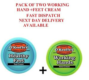 O'Keeffe's Working Hands & Healthy Feet: Hand & Foot Cream Jar Set - Twin Pack