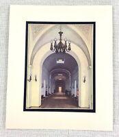 1983 Vintage Stampa Romanov Royal Famiglia Inverno Palazzo Lungo Corridoio