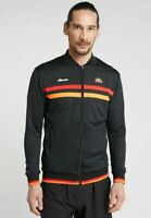 Ellesse Mens Track Top Jacket Training Tennis Gym Full Zip Michael Angelo Black