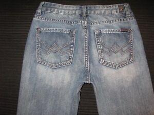 7 For all Mankind Slimmy Jeans Jungen Sz 14 mit Einem Taschen Distressed Neu